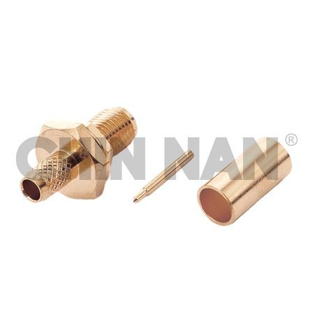 Reverse Polarity Connector SMA Straight Bulkhead Jack Crimp for RG 58 or 141A/U cable - Reverse Polarity Connector SMA Straight Bulkhead Jack Crimp for RG 58 or 141A/U cable