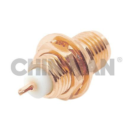 Reverse Polarity Connector SMA Staight Bulkhead Jack Receptacle(Front Mount) - sma staight bulkhead jack receptacle(front mount)