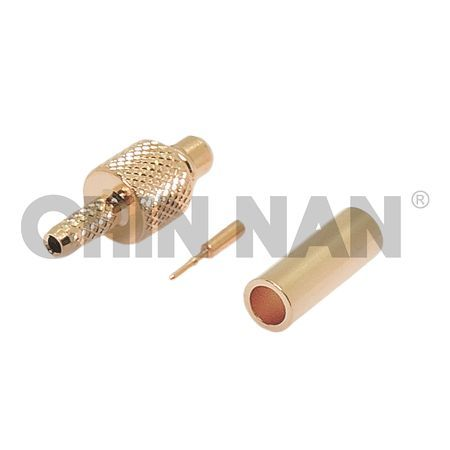 MMCX Straight Plug Crimp for RG 178 or RG 196 Cable - MMCX Straight Plug Crimp for RG178 or RG196 Cable