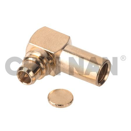"MMCX Right Angle Plug Solder for RG405/U(.085"") cable"
