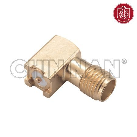 SMA Connectors - SMA Right Angle Surface Mount Jack - sma right angle surface mount jack