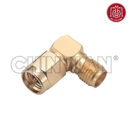 SMA Straight Square Flange Jack Receptacle(Solder Pot Contact) - right angle sma plug-jack adapter