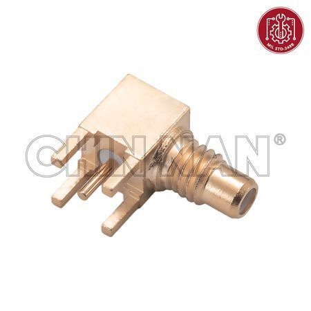 SMC Connectors - SMC Right Angle PCB Mount Jack Receptacle with Standoff Pads - smc right angle pcb mount jack receptacle with standoff pads