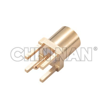 MCX Straight PCB Mount Jack Receptacle with Standoff Pads - mmcx straight pcb mount jack receptacle with standoff pads
