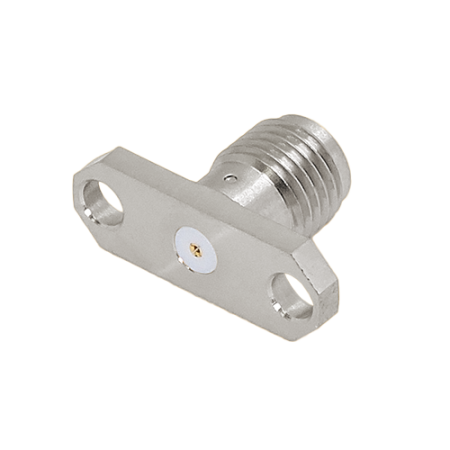 "SMA 27G Connectors - SMA 27G 2 Hole Flange Mount Jack Field Replaceable (To Accept .020"" pin) - sma 27g 2 hole flange mount jack field replaceable (to accept .020"" pin)"