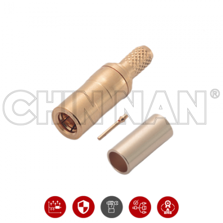 SSMB Straight Plug Crimp for  RG 174 or RG 316 or RG188 or LMR100 cable - SSMB Straight Plug Crimp is a SSMB plug connector for cable application.