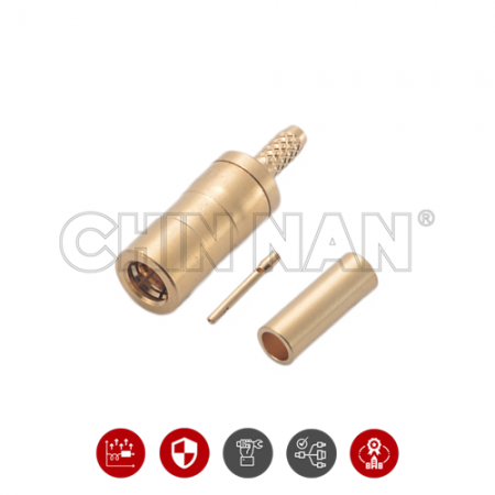 SSMB Connectors - SSMB Straight Plug Crimp for RG 178U cable - SSMB Straight Plug Crimp for RG 178U cable