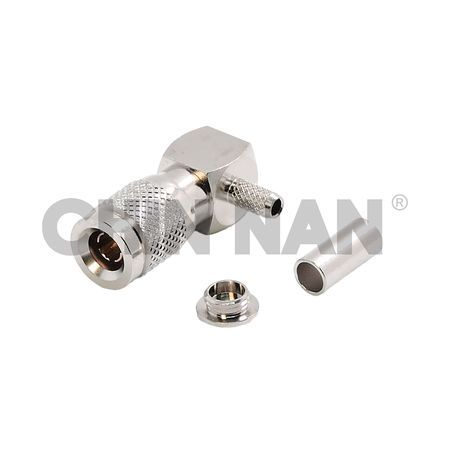 1.0/2.3 Right Angle Plug Crimp  for RG 174 or RG 316 or RG188 cable - 1.0/2.3 Right Angle Plug Crimp  for RG 174 or RG 316 or RG188 cable