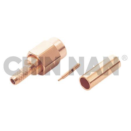 SSMA Connectors - SSMA Straight Plug Crimp for RG 174 or RG 316 or RG188 cable