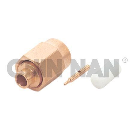 "SSMA Connectors - SSMA Straight Plug (With Center Contact) Solder for RG405/U(.085"") cable"
