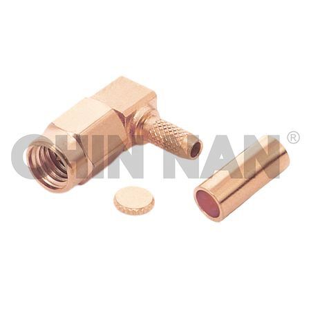 SSMA Connectors - SSMA Right Angle Plug Crimp for RG 174 or RG 316 or RG188 cable