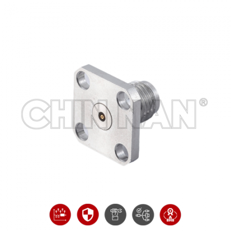 2.92 mm SQUARE FLANGE MOUNT JACK FIELD  REPLACEABLE - 2.92 mm square flange mount jack field replaceable