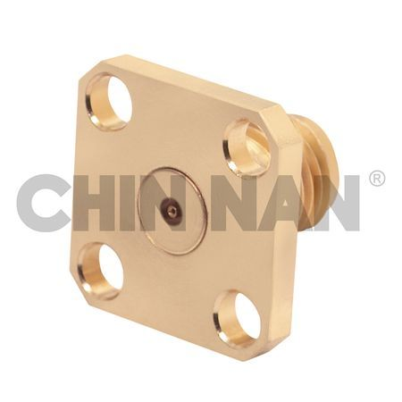 2.92mm Connector Square Flange Mount Field Jack Replaceable - 2.92mm connector square flange mount field jack replaceable