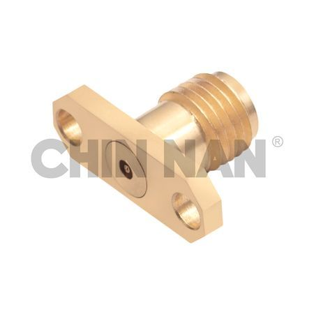 2.92mm Connector 2 Hole Flange Mount Field Jack Replaceable - 2.92mm connector 2 hole flange mount field jack replaceable
