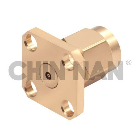 2.92mm Connector Square Flange Mount Field Plug Replaceable - 2.92mm Connector Square Flange Mount Field Plug Replaceable
