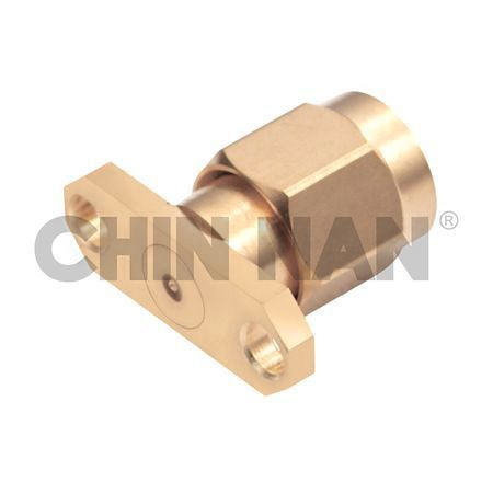 2.92mm Connector 2 Hole Flange Mount Field Plug Replaceable - 2.92mm connector 2 hole flange mount field plug replaceable