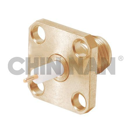 2.92mm Connector Square Flange Jack Receptacle (Exposed Teflon) - 2.92mm Connector Square Flange Jack Receptacle (Exposed Teflon)