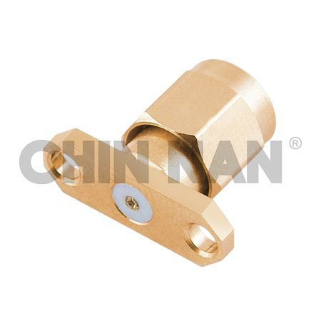 "SMA 27G Connectors - SMA 27G 2 Hole Flange Mount Plug Field Replaceable (To Accept .015"" Pin) - sma 27g 2 hole flange mount plug field replaceable (to accept .015"" pin)"