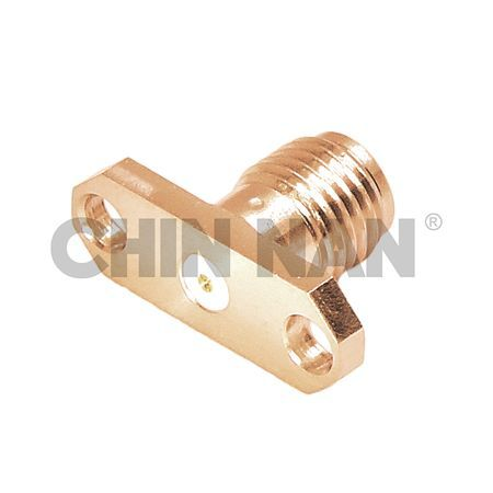 "SMA 27G Connectors - SMA 27G 2 Hole Flange Mount Jack Field Replaceable (To Accept .015"" pin) - sma 27g 2 hole flange mount jack field replaceable (to accept .015"" pin)"