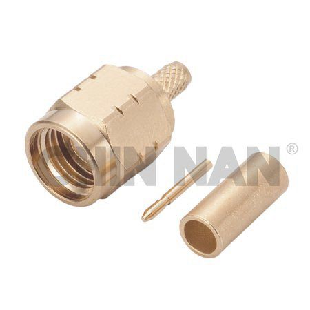 Non-Magnetic SMA Straight Plug Crimp for RG 174 or RG 316 or RG188 cable - Non-Magnetic SMA Straight Plug Crimp for RG 174 or RG 316 or RG188 cable