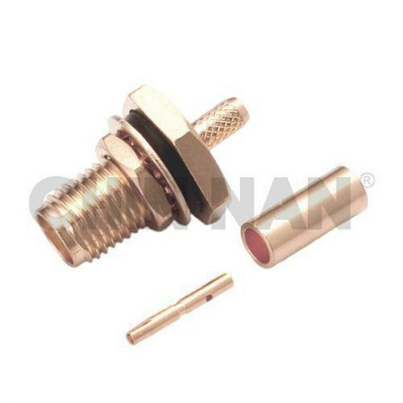 Non-magnetic Connectors - Non-Magnetic SMA Straight Bulkhead Jack Crimp for RG 174 or RG 316 or RG188 cable - non-magnetic sma straight bulkhead jack crimp for rg 174 or rg 316 or rg188 cable