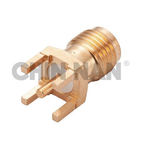 Non-magnetic Connectors - Non-Magnetic SMA Straight Jack PCB Mount Receptacle with Standoff Pads - non-magnetic sma straight jack pcb mount receptacle with standoff pads