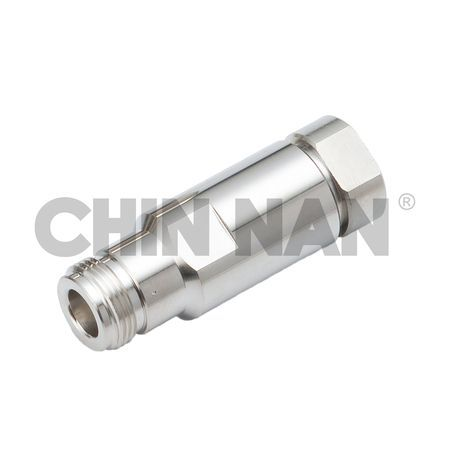 "LOW PIM Connector- N Straight Jack Clamp for Helical 3/8"" cable"