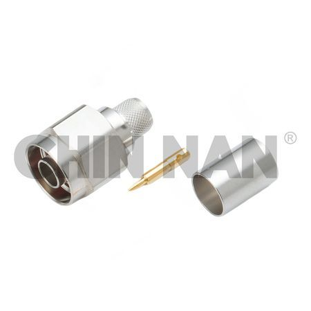 LOW PIM Connector- N Straight Plug Crimp for BELDEN 9913 or LMR400 cable - low pim n straight plug crimp for belden 9913 or lmr400 cable