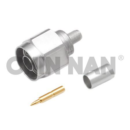 LOW PIM Connector- N Straight Plug Crimp for RG 8X or LMR240 cable - low pim n straight plug crimp for rg 8x or lmr240 cable