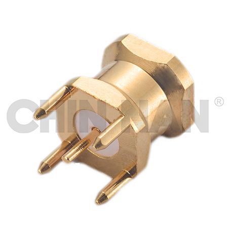 Board to Board Connector - RPSMP Straight PCB Mount Full Detent Jack Receptacle - rpsmp straight pcb mount full detent jack receptacle