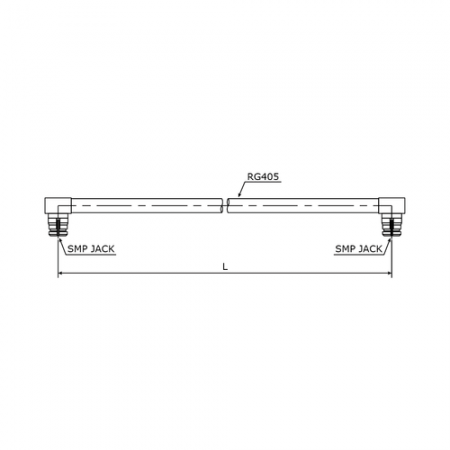 Cable Assemblies - SMP Right Angle Jack-Jack with RG405/U