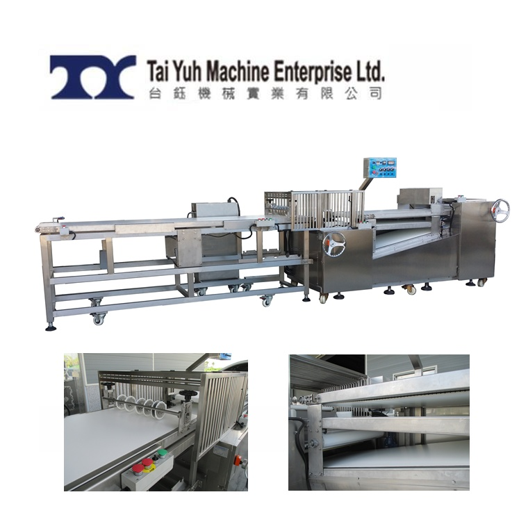 Continuous Dough Sheeter - Dough band roller and divider