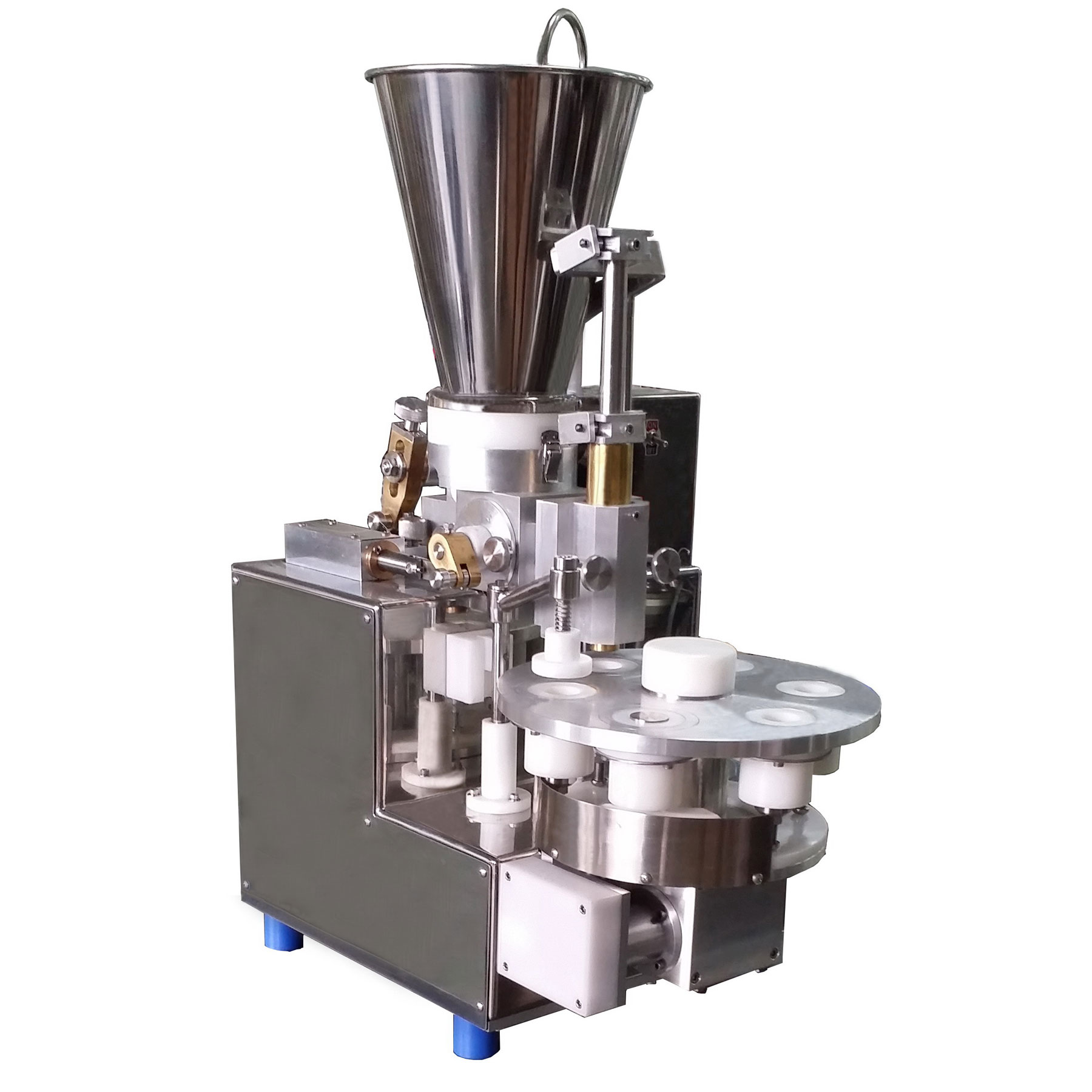 Semi automatic machine for the production of Shao-Mai,with lightweight and compact in design