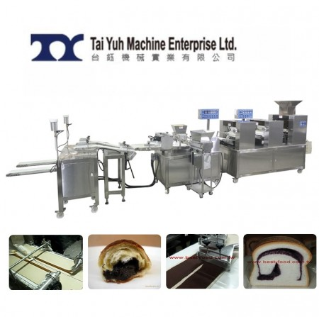 Stuffed Bread Making Machine (2 Lines) - Industrial Bread Making Machine