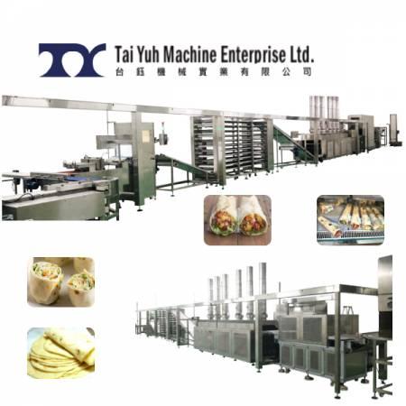 मैक्सिकन टॉर्टिला/भारतीय चपाती मेकिंग लाइन - टॉर्टिला चपाती बनाने की मशीन