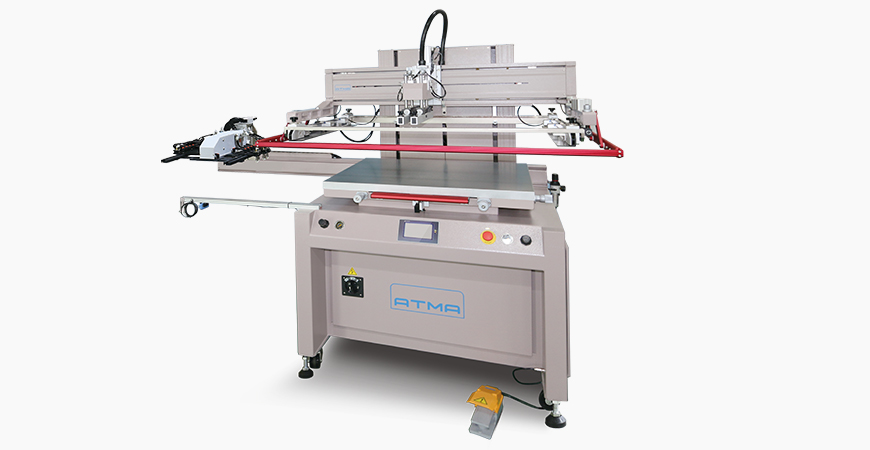 Electric Flat Screen Printer AT-80P/SV is suitable for flat screen printing on flexible / rigid materials such as Membrane Switch, Flexible PCB, Nameplate, Transfer Paper, etcindustrial products.
