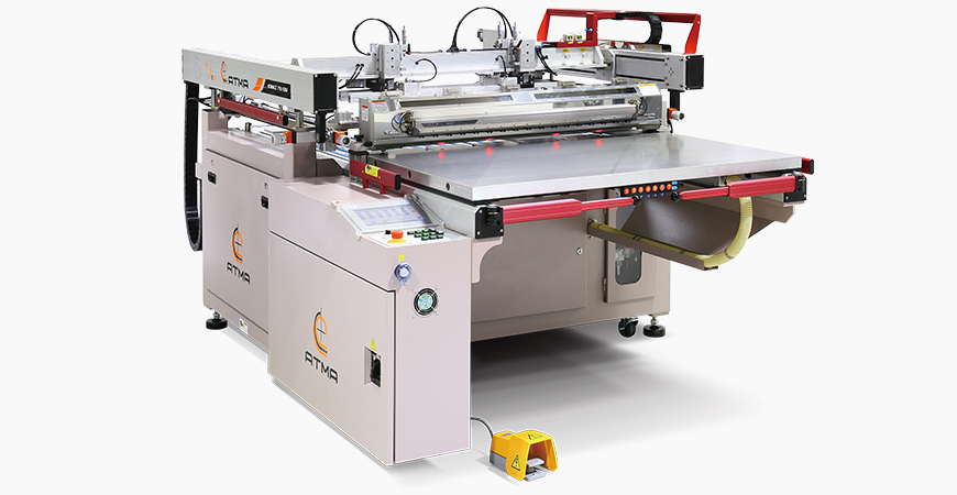 Digital control preset printing parameters, servo motor driven printing stroke with equalized air pressure and synchronous peel-off to prevent sticky mesh, auto gripper take-0ff to raise productivity.