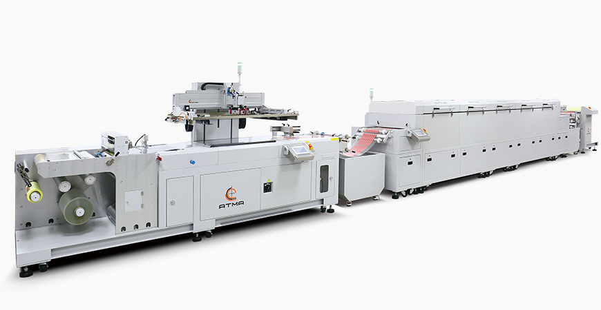 Combined with unwinder + sensor registering screen printe + composed dryer (IR + hot air) + auto winder, connected into automatic printing line.