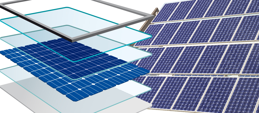 Photovoltaic Glass is composed of low-iron and utilizes to encapsulate Silicon Wafers