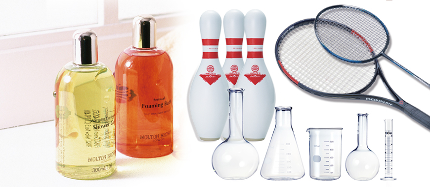 Such as screen printing on cosmetic container, measurement container, laboratory test tube, thermos bottle, souvenir, etc