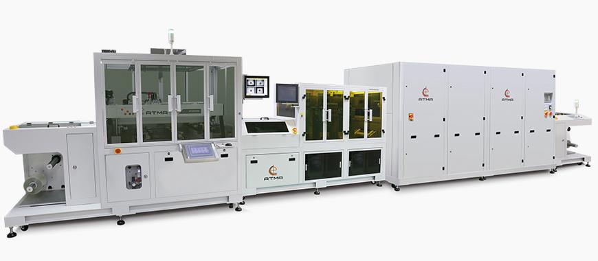 Linea di stampa serigrafica roll-to-roll completamente automatica FPC