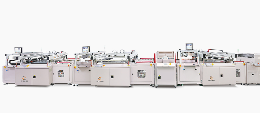Three types of screen printer as semi-automatic, twin table, fully automatic printing line. After printing accomplishment (delivery to dryer or drying rack), used to print directly legend, plug-via, solder mask, conductive electrode (Siler or Carbon) / circuits on rigid and flexible material PCB panel.