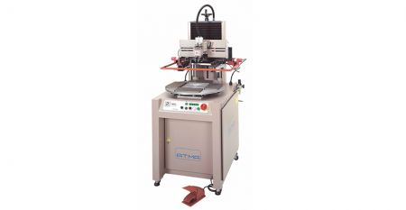 Pneumatic Index Table Screen Printer - This model is suitable for screen printing small size on various materials as plastic, acrylic, metal, glass, etc.