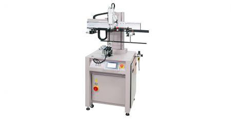 Пневмоелектричний міні -кривий трафаретний принтер - Ця модель підходить для трафаретного друку на різних матеріалах (наприклад, пластмасі, акрилі, металі, склі) конічної, овальної, циліндричної форми, як пляшка, кухоль, банка, трубка тощо.
