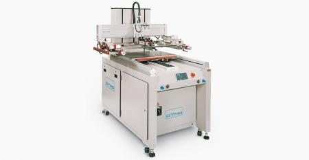 Digital Electric Sliding Table Screen Printer - Parameters setting on touch screen control panel to attain numeric management, sliding table moves in / out fast and precise positioning, wide space processing for convenient loading / unloading substrate