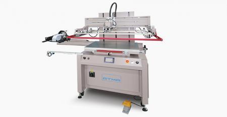 真空キャリアテイクオフ付き電動フラットスクリーンプリンター - 電気フラットスクリーンプリンターAT-80P / SVは、メンブレンスイッチ、フレキシブルPCB、ネームプレート、転写紙などの工業製品などのフレキシブル/リジッド素材へのフラットスクリーン印刷に適しています。