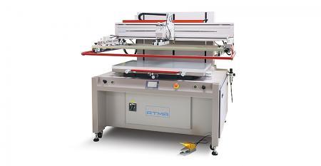 电动式湿膜塞孔网印机 - 利用双刮刀/双抬版及台面位移功能,完美作档点塞孔,双面印完再烘烤,集节能、产能于一身。