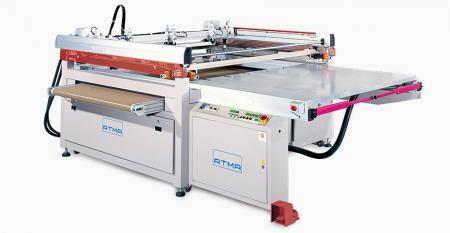 Four-post Flat Screen Printer with Gripper Take-off - 3/4 automatic screen printer with gripper takeoff, reduce manpower to raise productivity, corresponding with diversified industrial printing demand, comprehensive safety protection.