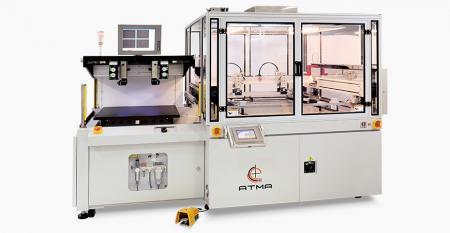 Повністю автоматичний екранний принтер для реєстрації CCD (максимальна площа друку 600x600 мм) - Реалізований різноманітний продукт сенсорної панелі, спрямований на розробку невеликої ваги, тонких та малих розмірів, щоб задовольнити мету масового виробництва замовника.
