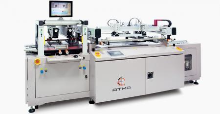 Plně automatická sítotisková tiskárna s registrací CCD (maximální tisková plocha 600x600 mm) - Tisk legendy PCB s registrací CCD kamery pro zvýšení přesnosti a efektivity výtěžnosti.